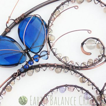 Blue Butterfly Suncatcher 1