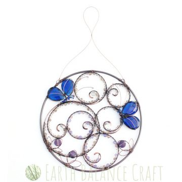 Blue Butterfly Suncatcher 5