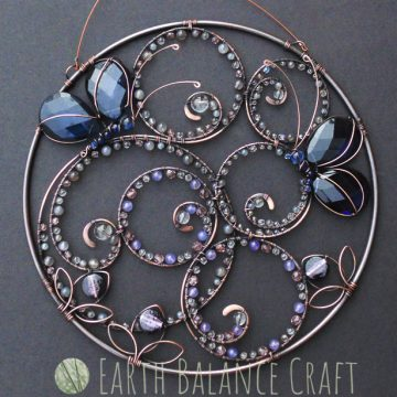 Blue Butterfly Suncatcher 6