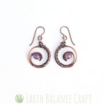 Violet Wildflower Earrings 1
