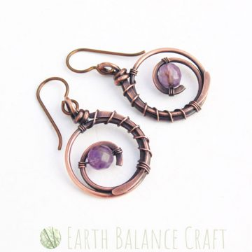 Violet Wildflower Earrings 3